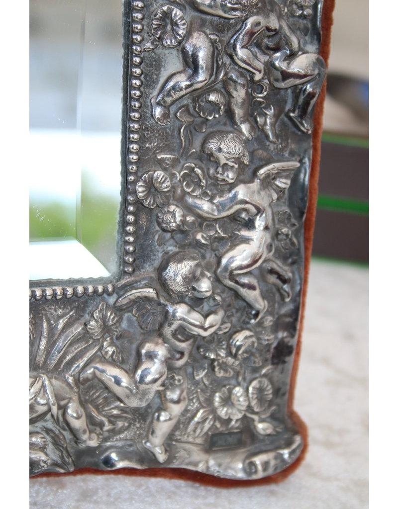 Zilveren Spiegel Met Engeltjes Sterling Zilver