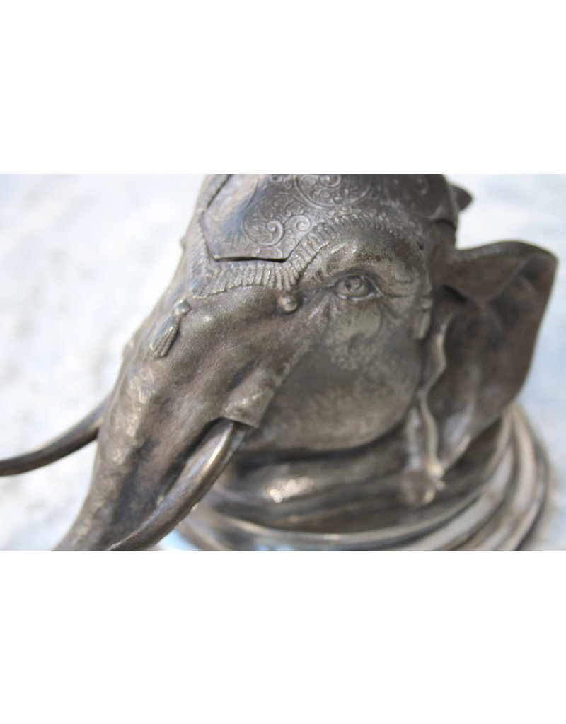 WMF InkWell Inktpot Olifant met aapje 1920
