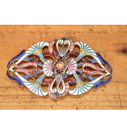 Art Nouveau Franse  geëmailleerde Gesp