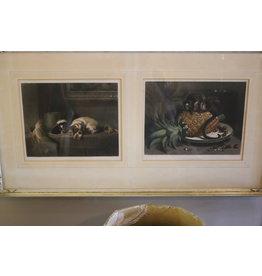 Wall decoration print dog monkeys 1880