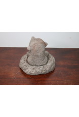 Concrete garden statue mole from its lair 15 cm high