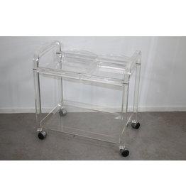 Vintage Lucite Plexiglas Trolley