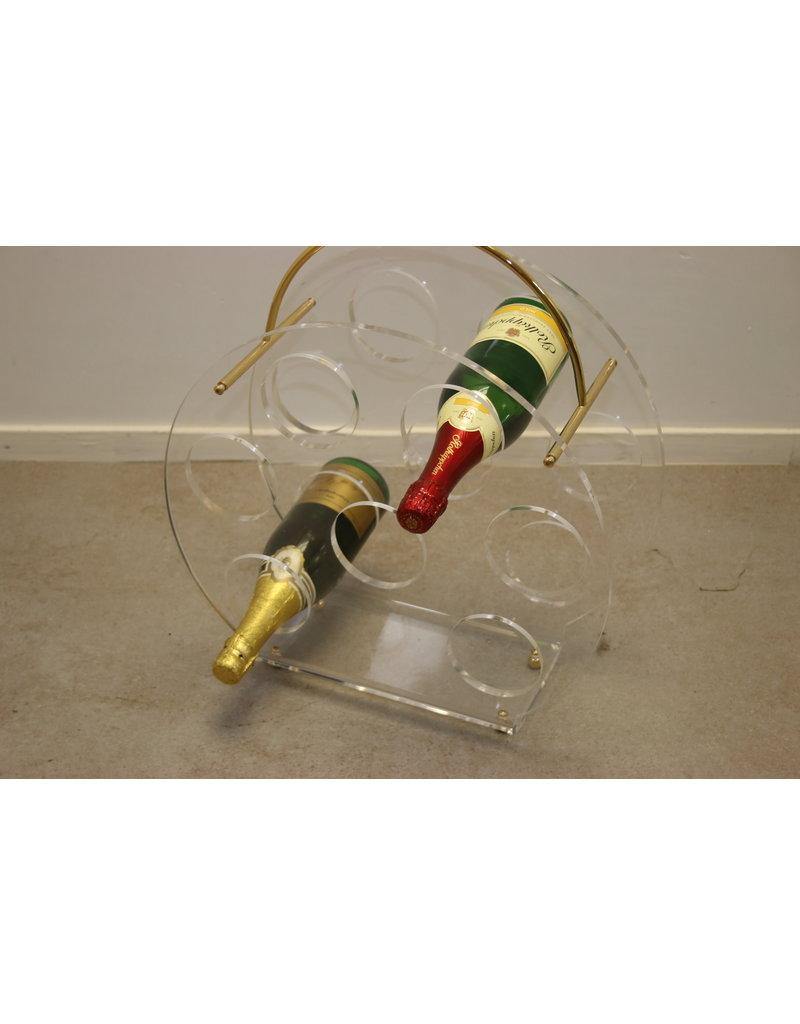 PlexiGlass Lucite Wine Rack Bottel Rack for 7 bottels