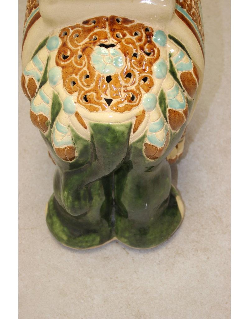 Pedestal Large Ceramieke Elephant plant Stand of Pedestal
