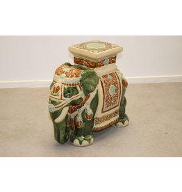 Large Ceramieke Elephant plant Stand of Pedestal