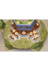Rare Ceramic Turtle Plant Stand