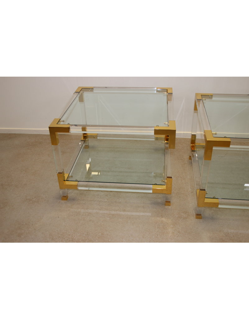 golden Side Tables Charles Hollis Jones USA
