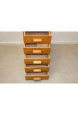 Pharmacists load block 5 drawer wood