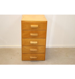 Pharmacists load block 5 drawer wood