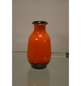 West Germany vase orange gray