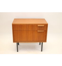 Danish design bedside table with drawer and lid Teak