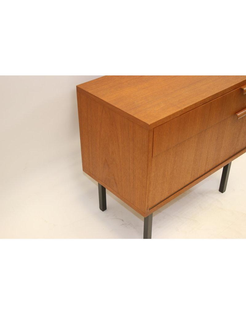 Danish design bedside table with drawer and lid Teak