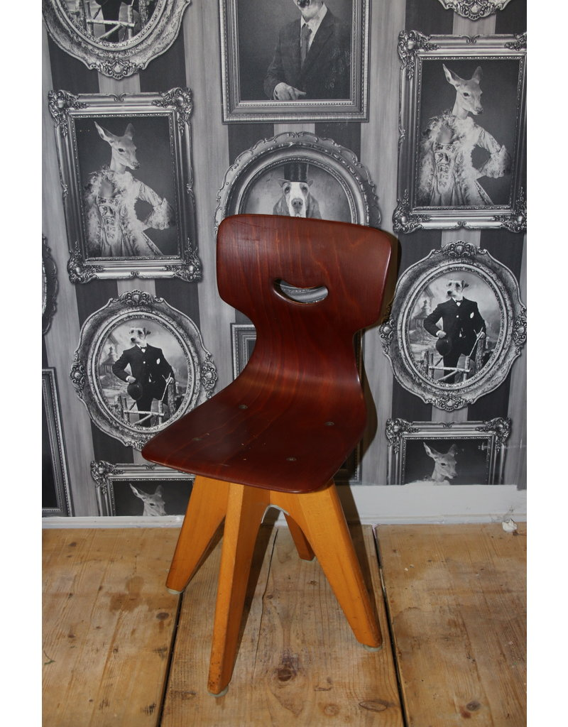 Pagholz School chair(Schulmöbel) by Adam Stegner made by Pagholz Flötotto