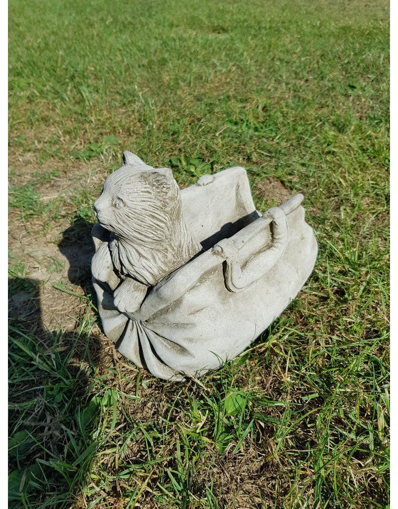 Handtas met poes van beton