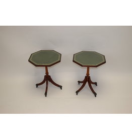English Side Tables Mahogany with glass plate