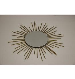 Franse Metalen Zonne Spiegel 50 jaren 50 cm doorsnee