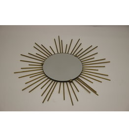 French Metal Solar Mirror from the 50's   50 cm White