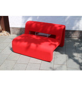 Antifort Red bench with magazine holder