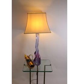Val saint Lambert Very Rare Lampbase or foot 67 cm higt