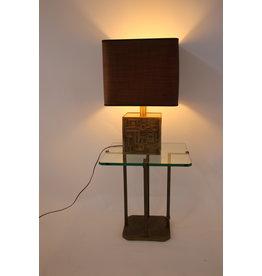 Rare Design Brass  Lamp base or foot Sign. M Delo