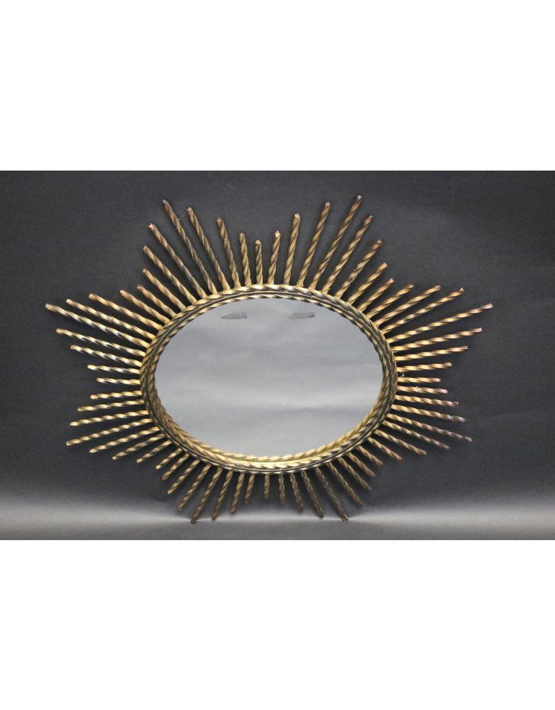 Zonnespiegel vintage metalen ronde spiegel