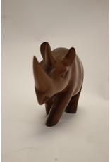Scandinavian Rhino from Teak carved design