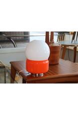 Frans Vintage Tafellampje Oranje met Witte bol