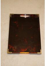 Art Deco Bakelieten dienblad met bronzen hoeken 1920