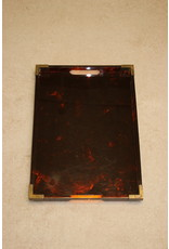 Art Deco Bakelite tray with bronze corners 1920