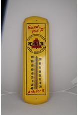 Pennz Oil Termometer Geel