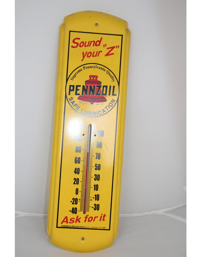 Pennzoil Thermometer Yellow