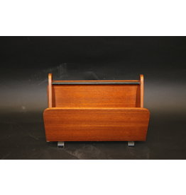 Teak wooden storage rack danish design