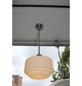 art deco hang lamp trapkap melkglas