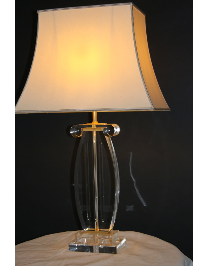 Plexiglas or Lucitie  Lamps base Music Harp model