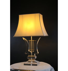 Plexiglass or Lucite  Lamps Foot Music Harp note