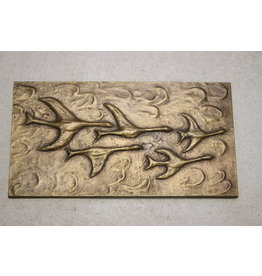 Bronze Wall plaque flying Birds