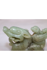 19th Green Chinese Jade Dragon