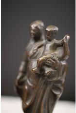19é Vlaamse Bronzen Mariabeeld met kind