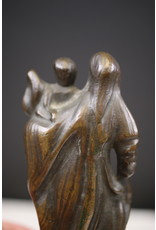 19th Flemish Bronze Statue of Mary with child