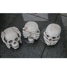 Betonnen Skulls Doodshoofden Horen zien En zwijgen