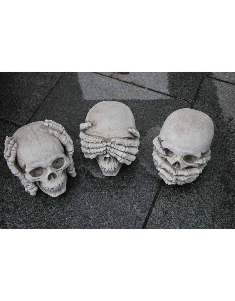 Concrete Skulls Skulls Hear See And Be Silent