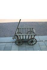 Wooden cart trolley