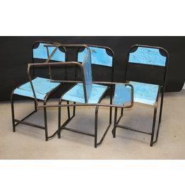 Blue Metal Industrial Chair Sturdy model