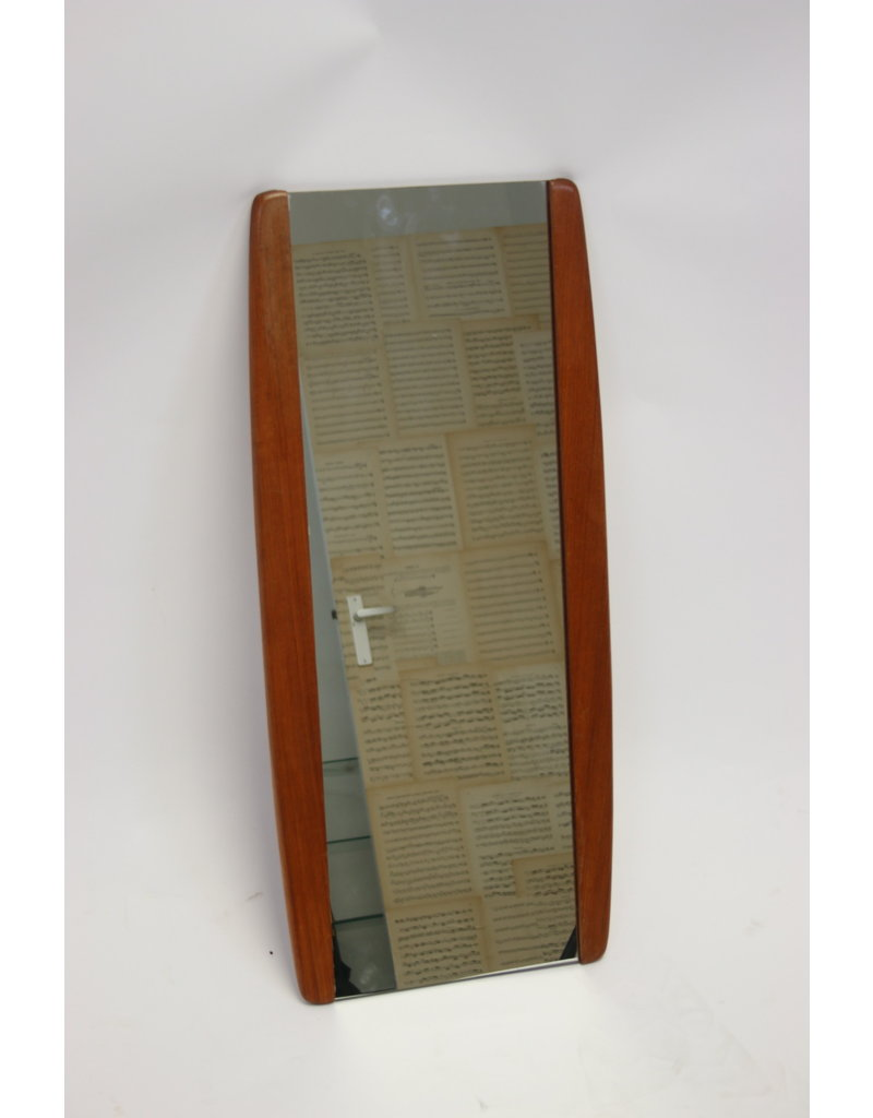 Danish Wall Mirror with Teak 86 cm long