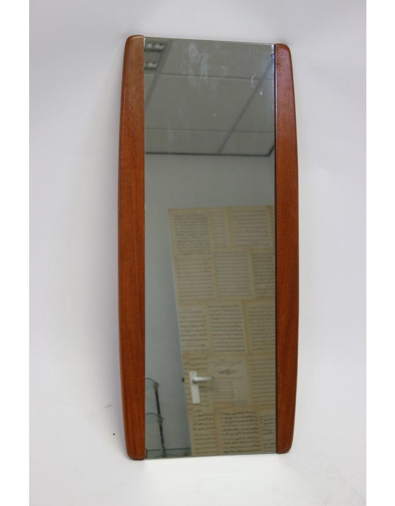 Deense Wandspiegel met Teakhout 86 cm lang