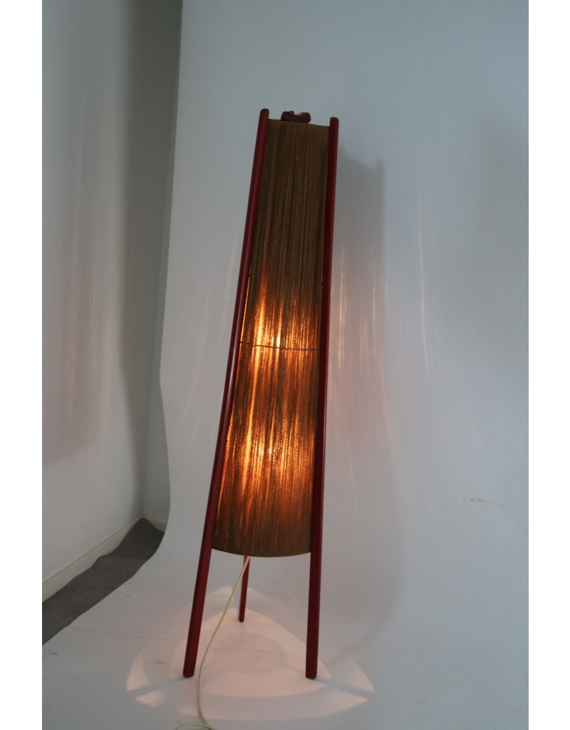 Red Rocket Floor lamp 50 years Made in the DDR