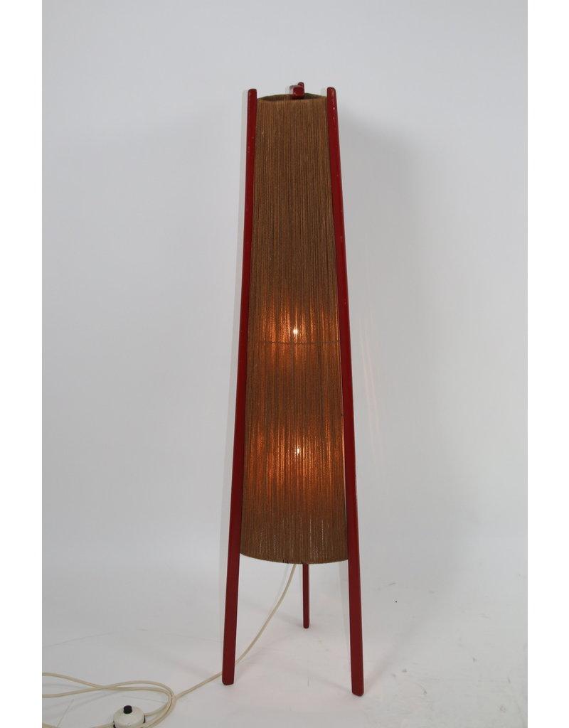 Rode Raket Vloerlamp 50 jaren DDR