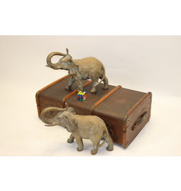 Large Elephants Solid Bronze