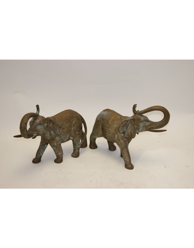 Large Elephants Solid Bronze