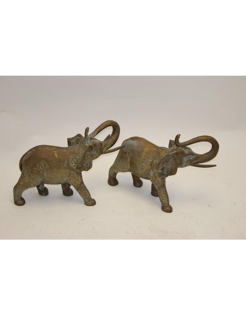 Grote Olifanten Massief Brons